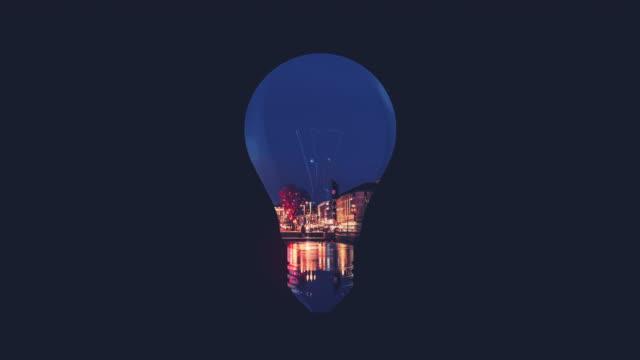 Glühbirne Double Exposure