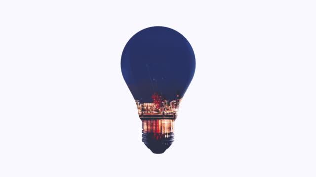 Lightbulb Double Exposure