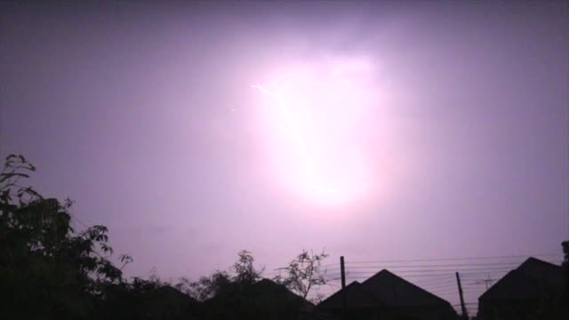 lighthing on house super slow motion - forked lightning stock videos & royalty-free footage