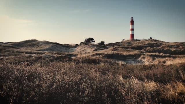 leuchtturm amrum - deutsche nordseeregion stock-videos und b-roll-filmmaterial