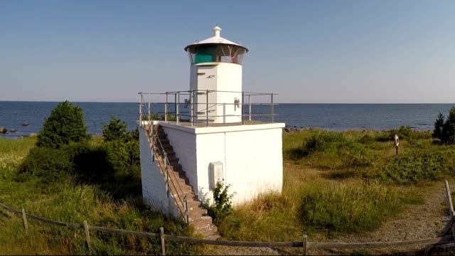 Lighthouse at beautiful coastline