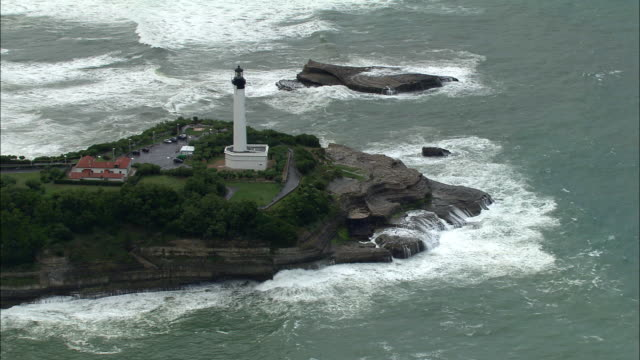 AERIAL, Lighthouse at Biarritz, Aquitaine, France