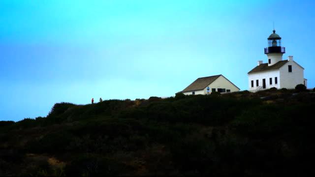 灯台、ポイントロマ、カリフォルニア州) - ローカルな名所点の映像素材/bロール
