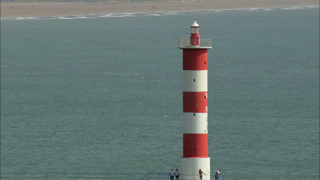 lighthouse at port-la-nouvelle - aude stock videos & royalty-free footage