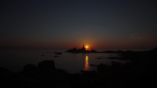 lighthouse at sunsey - channel islands england stock videos & royalty-free footage