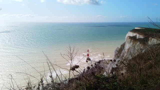 4k: lighthouse eastbourne - suicide stock videos & royalty-free footage