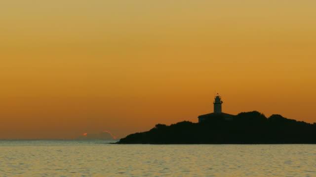 Lighthouse in Alcanada near Port d' Alcudia at morning mood, Majorca, Balearic Islands, Spain