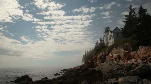 lighthouse in maine - maine stock videos & royalty-free footage