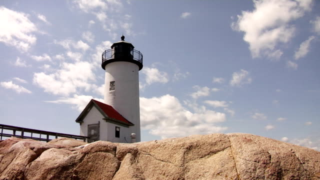 lighthouse in new england - time lapse - gloucester massachusetts stock videos & royalty-free footage