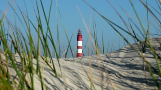 lighthouse in the dunes - north sea stock videos & royalty-free footage