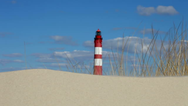 lighthouse in the dunes - north frisian islands stock videos & royalty-free footage