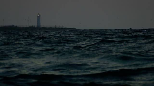 lighthouse in the night - lookout tower stock videos & royalty-free footage