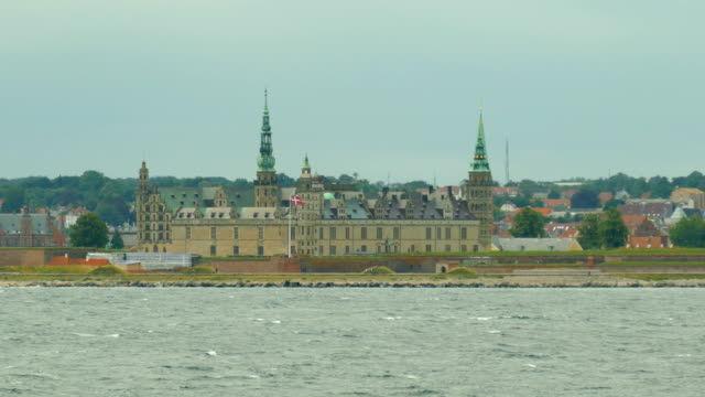 lighthouse in the old abbey on the coast of denmark - view from the ship - coastline stock videos & royalty-free footage