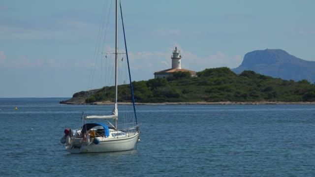 Lighthouse of Alcudia, Badia d'Alcudia, Majorca, Balearic Islands, Spain, Mediterranean, Europe
