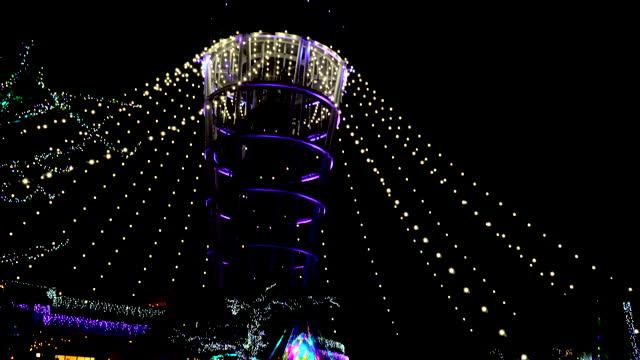 江ノ島灯台が照らされた - 神奈川県点の映像素材/bロール