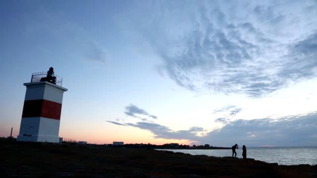vídeos y material grabado en eventos de stock de lighthous'en la costa - equipo de seguridad