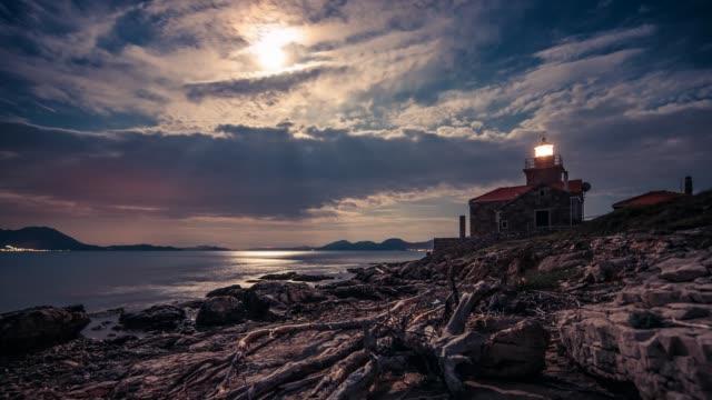 Lighthouse on the coastline, Hvar Island, Dalmatia, Croatia