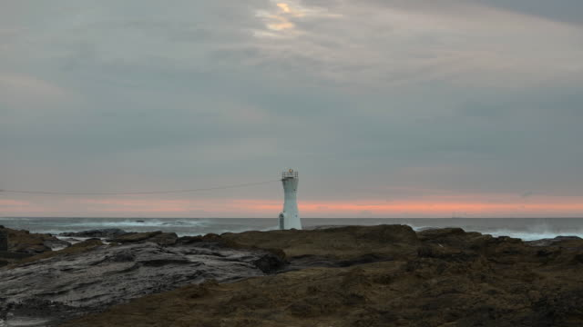 lighthouse on the shore - 2013 stock-videos und b-roll-filmmaterial