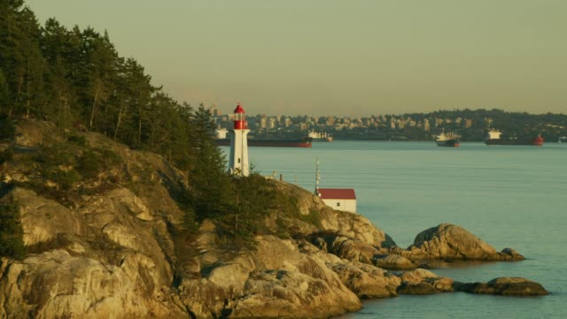 lighthouse reveal vancouver - vancouver canada stock videos & royalty-free footage