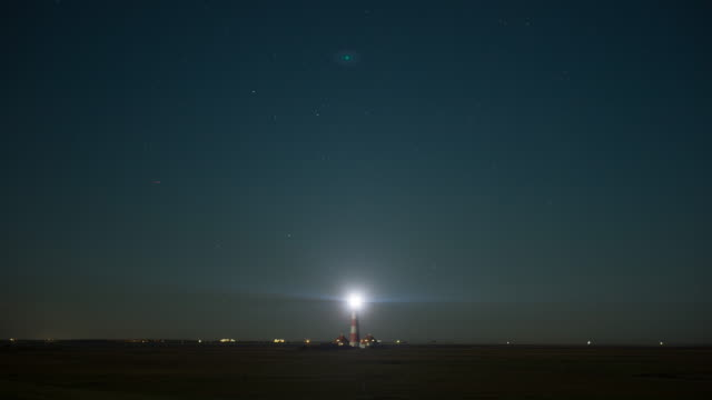 Leuchtturm timelapse mit Abend-Himmel