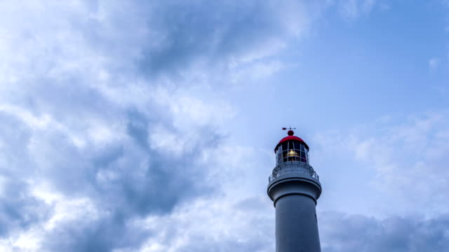 lighthouse,clouds and skyline in australia,timelapse. - lighthouse stock videos and b-roll footage