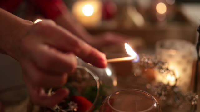 lighting a candle - cozy stock videos & royalty-free footage