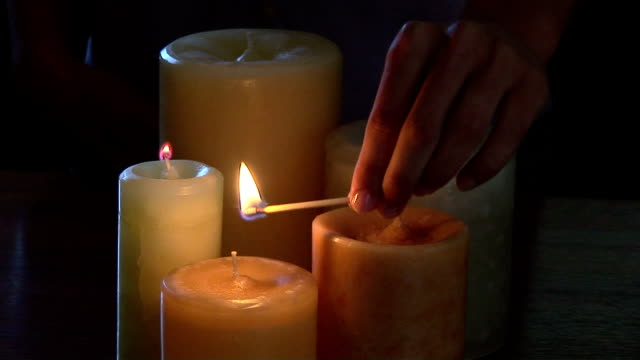 lighting candles - unknown gender stock videos & royalty-free footage