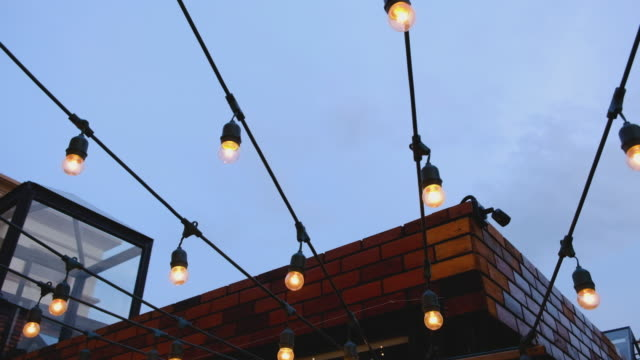 lighting decor outdoor - rooftop stock videos & royalty-free footage
