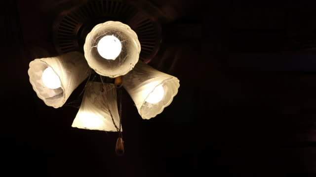 lighting old lamps with a ceiling fan. - ceiling fan stock videos & royalty-free footage