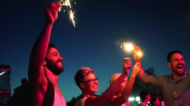 Lighting sparkles on festival