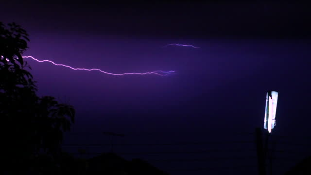 Lightning And Bulb Slow Motion
