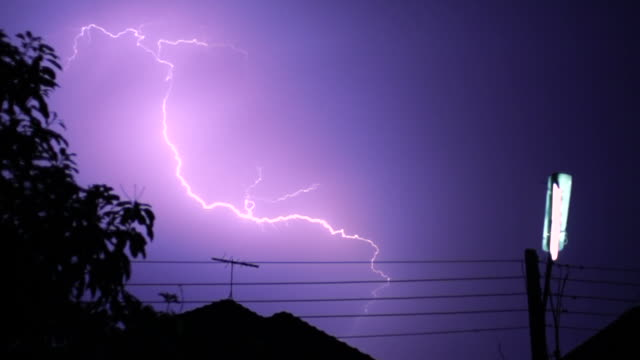 lightning and bulb slow - lightning stock videos & royalty-free footage