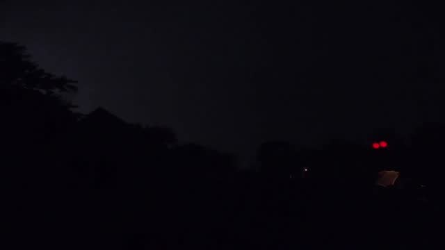 lightning bolts illuminated the night sky of arlington heights, illinois, as severe thunderstorms hit the chicago area on august 10. national weather... - https stock-videos und b-roll-filmmaterial