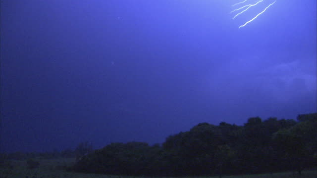 ws lightning bolts in sky at night / lusaka city, lusaka, zambia - lightning stock videos & royalty-free footage