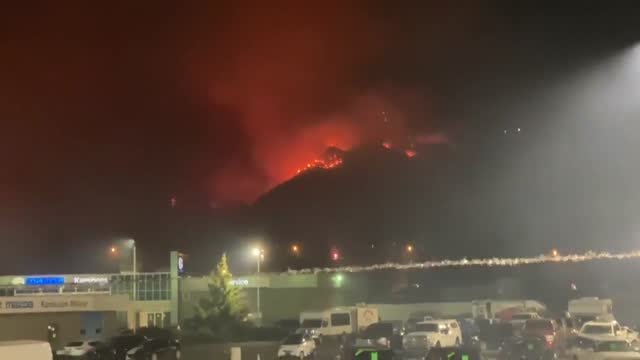 lightning caused a wildfire in the city of kamloops, southern british columbia thursday evening, july 1. the fire broke out at around 9:30 p.m. after... - canada stock videos & royalty-free footage