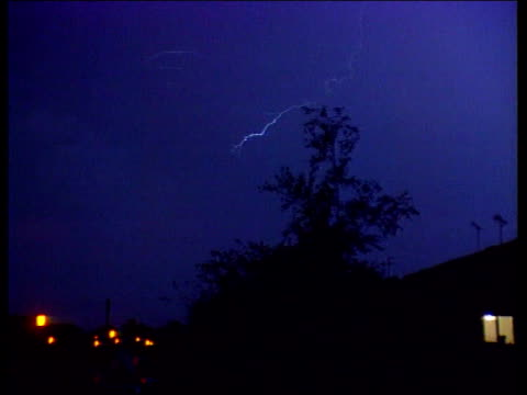 Lightning Escape NIGHT LAGV Forked lightning in sky during electric storm TX LAGV Ditto LNN