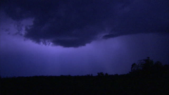 lightning flashes in a night sky. - zambia stock videos & royalty-free footage