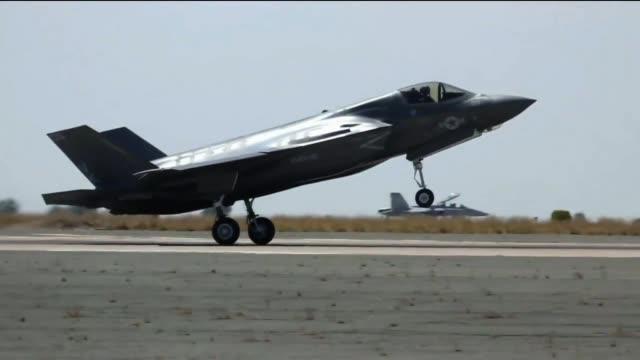 F-35B Lightning II Aircrafts Landing and Refueling at Marine Corps Air Station Miramar