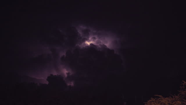 lightning in cloud - lightning stock videos & royalty-free footage