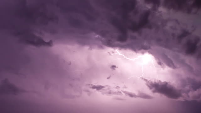 lightning in clouds - dramatic sky stock videos & royalty-free footage