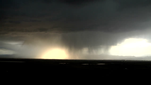 lightning in rain shaft - real time stock videos & royalty-free footage