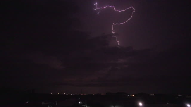 lightning on city slow - lightning stock videos & royalty-free footage