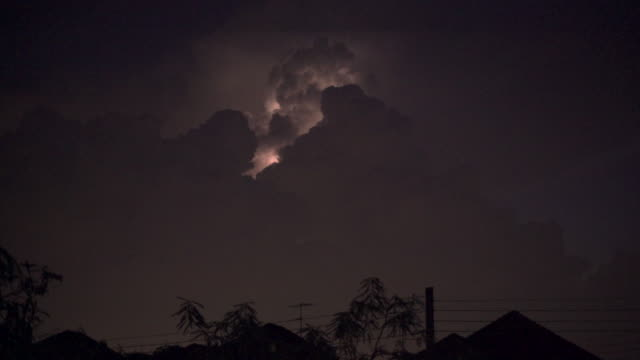 lightning on cloud tilt shot - forked lightning stock videos & royalty-free footage