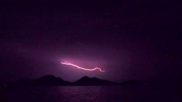 Lightning On Hill Slow Motion