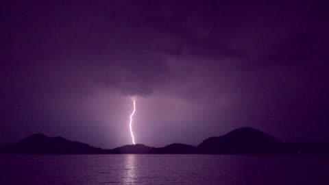 lightning on hill slow - lightning stock videos & royalty-free footage