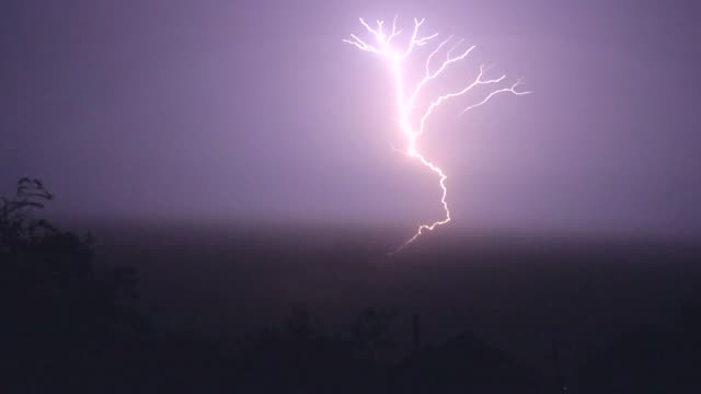 lightning on house super slow motion - forked lightning stock videos & royalty-free footage