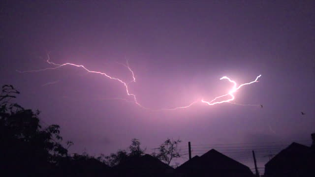 lightning on house super slow motion - shock stock videos & royalty-free footage