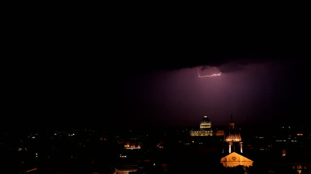 lightning over rome - state of the vatican city stock videos & royalty-free footage