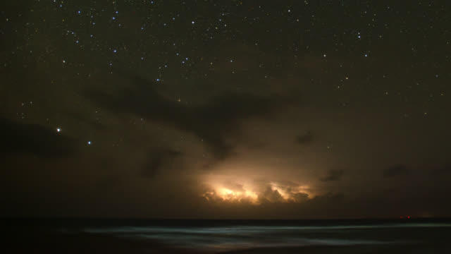 tl lightning storm at night, belize - lightning stock videos & royalty-free footage