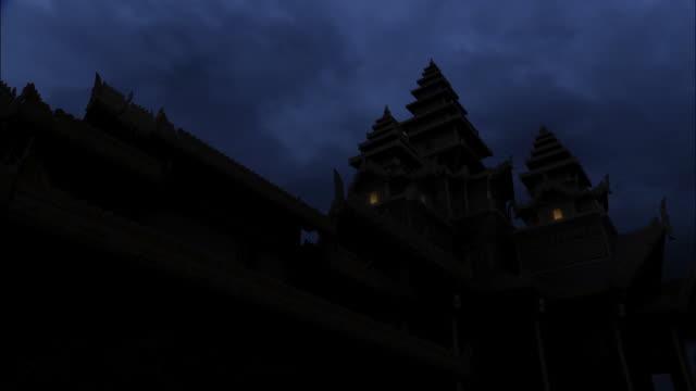 lightning storm over myanmar - bagan stock videos & royalty-free footage